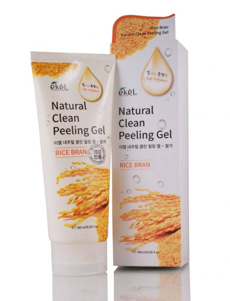 Купить Rice Bran Natural Clean Peeling Gel - Пилинг-скатка с экстрактом коричневого риса, Ekel