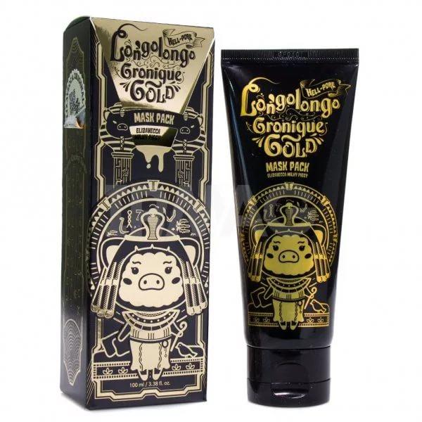 Hell-Pore Longolongo Gronique Gold Mask Pack - Маска-пленка с экстрактом золота