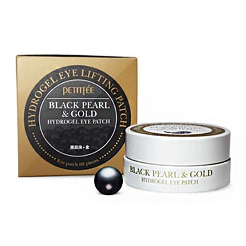 Купить Black Pearl & Gold Hydrogel Eye Patch - Гидрогелевые патчи для век с экстрактом чёрного жемчуга и био-частицами золота, Petitfee