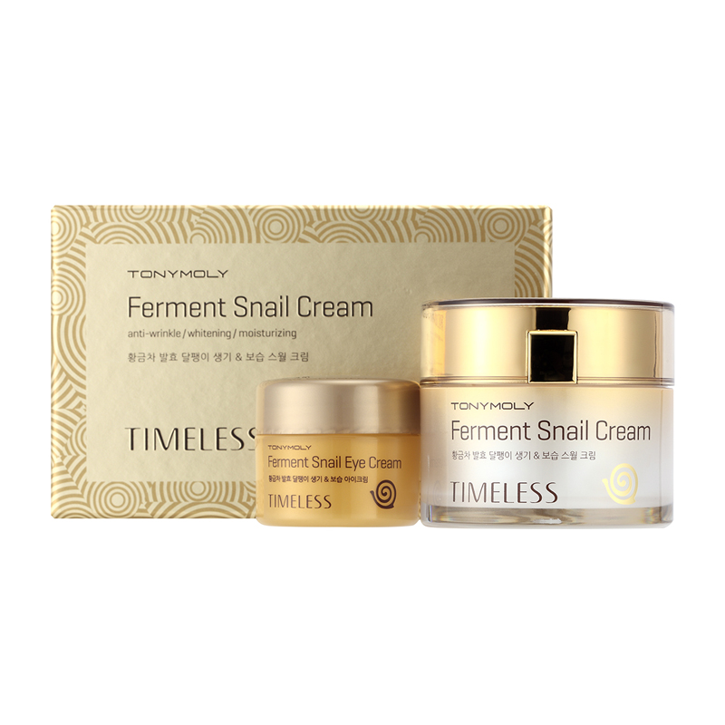 Timeless Ferment Snail Cream - Набор крем для лица + крем для глаз антивозрастной